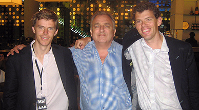 With Dominic and  Al Lyon at  02  Arena, London, June 2008