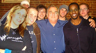 With students at the Academy of Contemporary Music Guilford,  Feburary 2008