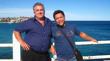 With Yo at Bondi, November 2007